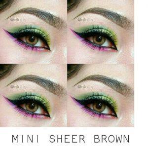 mini sheer brown kitty kawaii