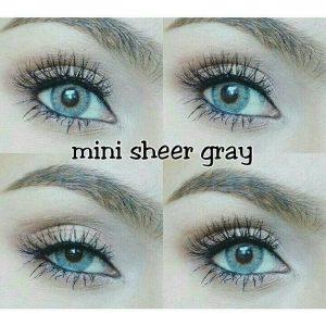 mini sheer gray kitty kawai